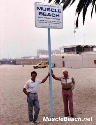 Muscle beach Steve Ford and Bert Goodrich