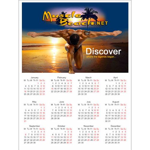 muscle beach calendar